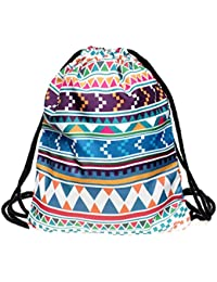Hunpta Drawstring Backpack Men And Women Should Be Geometric Symbols Backpack 3D Print Bag Belt Backpack