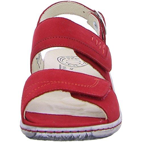 Waldläufer210001-191222 - Sandaletto Donna Multicolore (Rosso)
