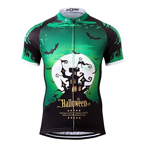 Thriller Rider Sports® Herren Halloween Sport & Freizeit MTB Fahrradbekleidung Radtrikot 3X-Large