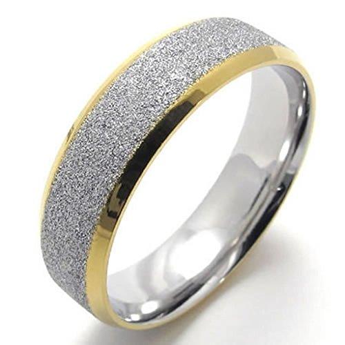 Adisaer Herren Ring Edelstahl Einfach Design Schrubben Ringe Silber Gold Für Männer Ring Größe 60 (19.1) (Teufel Einfach Männer Kostüm)