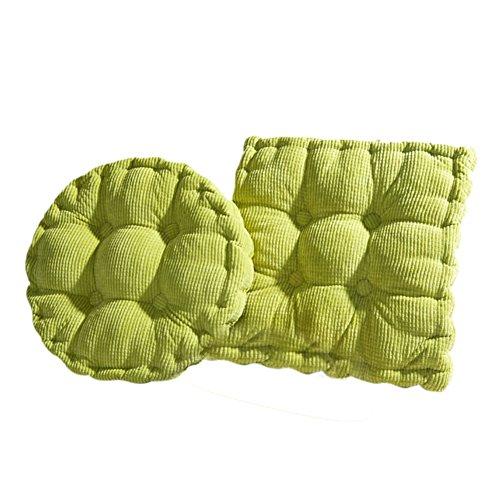 Hangnuo set di 2sedie in velluto a coste cuscino Addensato Home Office cuscino, Green, Small: 15.7inch