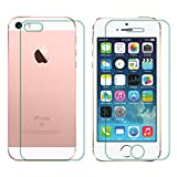 PraIQ Front & Back Tempered Glass Screen Guard For Apple iPhone 5/5S/SE
