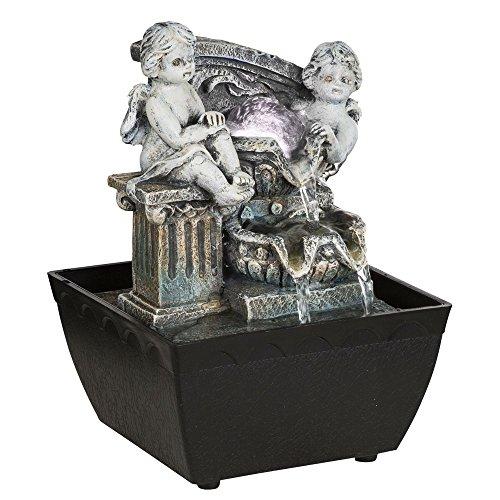 LED Tisch Spring Brunnen RGB Farbwechsel Lampe Wohn Raum Dekoration grau Globo 93028 (Brunnen Tisch)