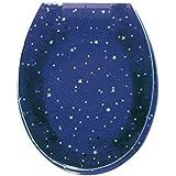 Sanitop-Wingenroth 40479 2 Lunette de toilette transparente motif nuit étoilée