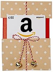 Idea Regalo - Buono Regalo Amazon.it - €50 (Busta di Natale Kraft)
