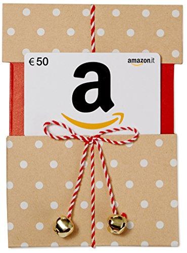 Buono Regalo Amazon.it - €50 (Busta di Natale Kraft)