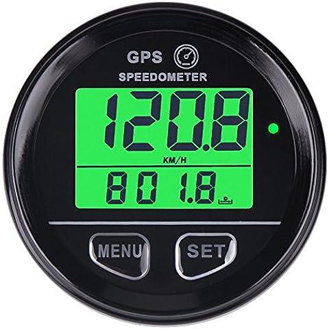 searon digitale GPS Tachimetro Retroilluminazione velocità contatore con impermeabile ad alta velocità richiamo per moto ATV UTV Automobile veicolo a motore