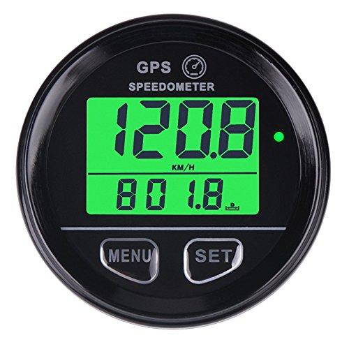 Searon-Digital-Hintergrundbeleuchtung und GPS-Geschwindigkeitsmesser / Kilometerzähler - wasserdicht mit Hochgeschwindigkeitsrückruf - für ATV - UTV - Motorrad/Automobil/Kraftfahrzeug