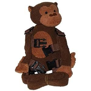 Goldbug 2 dans 1 Buddy harnais Monkey Brown