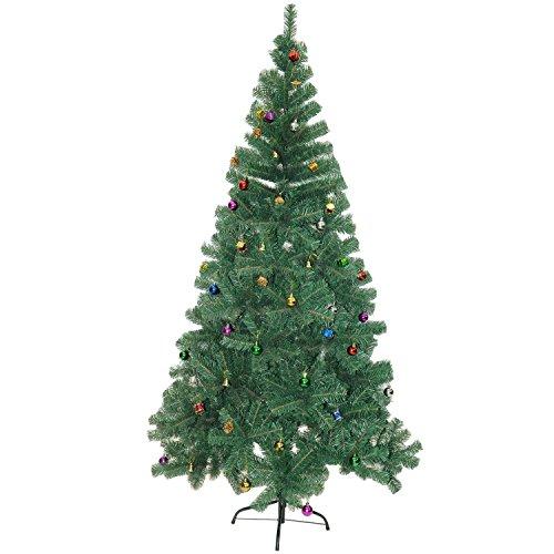 Albero di Natale artificiale - Abete con decorazioni (180cm ,