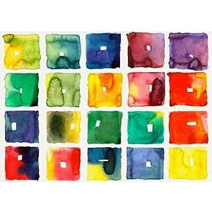 Poster / Tela - Arte Illustrazione Astratto Acquerello Watercolour - Arredamento casa - 30x40cm - Carta Fotografica