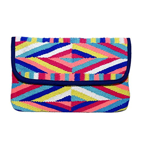 Diwaah Women's Cotton Clutch with Magnetic S...