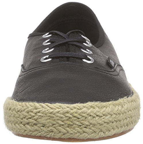 Vans Authentic Espadrille Scarpe da Ginnastica Basse, Unisex Adulto Nero (leather/black)