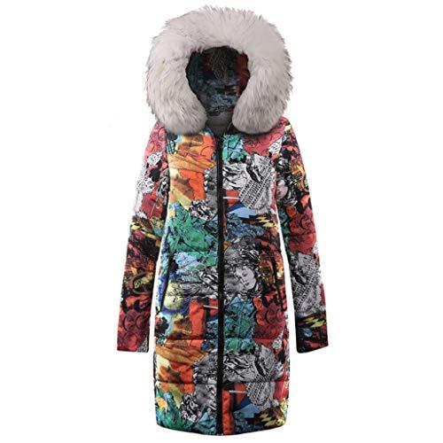 Luckycat Damen Daunenjacke Windbreaker Mantel Damen Long Down Baumwolle Damen Parka Kapuzenmantel Steppjacke Outwear für den Winter Mode 2018