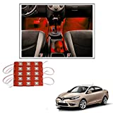 #10: Vheelocityin 15 LED Custom Cuttable Car Red Light for Interior/ Exterior For Renault Fluence