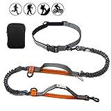Running Dog Lead, 3 in 1 Heavy Duty Padded Dog Walking Belt W/Dual