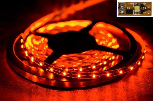 BORNER Striscia flessibile del LED luce arancione di 5 metri con 300 LED 24 Watt con trasformatore