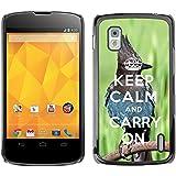 Print Motif Coque de protection Case Cover // Q01014393 keep calm and carry on 682 // LG Nexus 4 E960