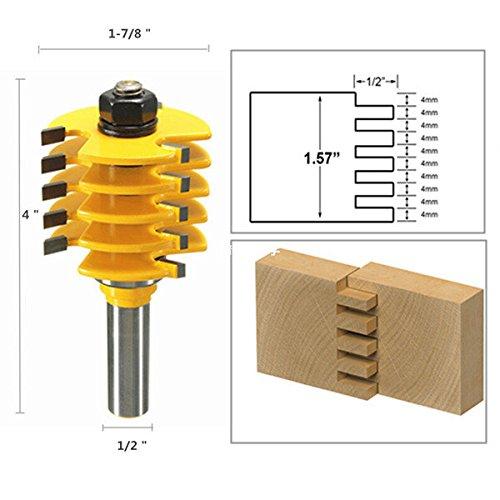 Box-joint Cutters (Doradus 1/2 Zoll Schaft Box Joint Fräser Holzbearbeitung Meißel Cutter)