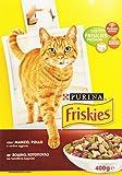 Friskies Purina - Alimento completo per gatti adulti, con Manzo, Pollo e Verdure - 400 g