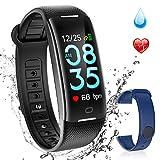 AGPTEK Smartband Fitness Tracker Monitoraggio di Cardiofrequenzimetro 24/24...