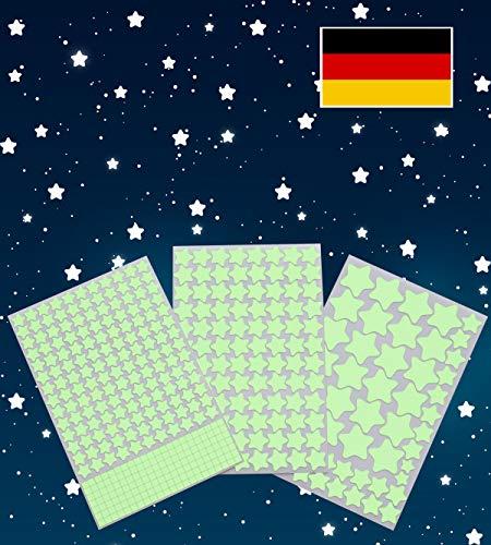 Paraboo 452 Leuchtsterne/Leuchtpunkte für deinen Sternenhimmel - selbstklebend und fluoreszierend Leuchtaufkleber, ohne Mond (Glow In The Dark-licht-lampe)