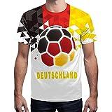 BesserBay Herren Deutschland Fan-Shirt WM 2018 Fußball Motiv Trikot Rundhals S