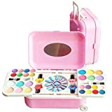 SmartPick Girl's All-in-One Cosmetic And Real Makeup Palette With Mirror, Comes In Trolley For Kids ( Make Up Kid And Nail Art KIT Set )