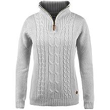 Desires Carry Invierno Jersey De Punto Troyer Suéter Sudadera De Punto  Grueso para Mujer con Cuello 10c54c8d3f44
