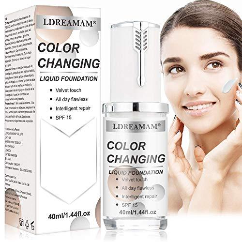 Flüssige Grundierung,Foundation Color Changing,Concealer Abdeckung, Make up Concealer für Gesicht und Hals, Primer Langlebig und Perfekte Abdeckung
