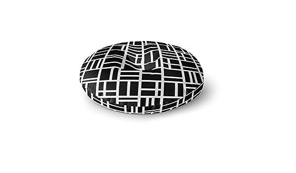 Kess InHouse Trebam Kutije Black White Square Floor Pillow 23 x 23