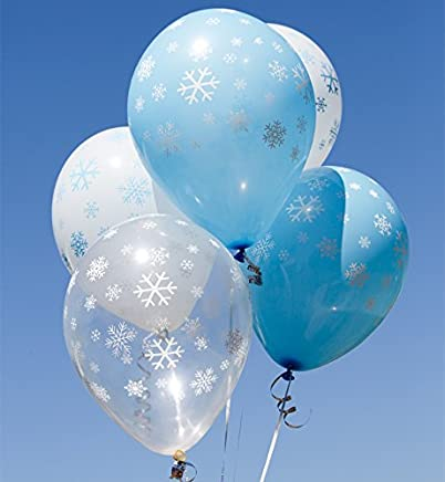Snowtime A Round Latex Balloon Pack Of 10 Mixed Balloons