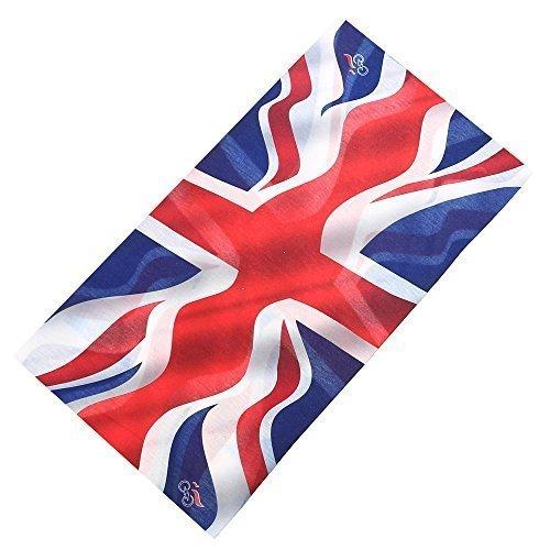 Braun Union Jack (Multifunktionstuch Union Jack England Great Britain Schlauchschal Schlauchtuch Halstuch Multischal in großer Auswahl)