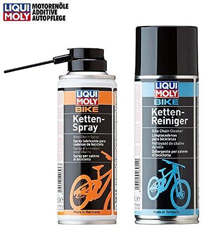 PRAKTISCHES SET! LIQUI MOLY LM Fahrrad Bike Kettenreiniger Chain Cleaner 400 ml + Fahrrad Kettenspray Chain Spray 400 ml