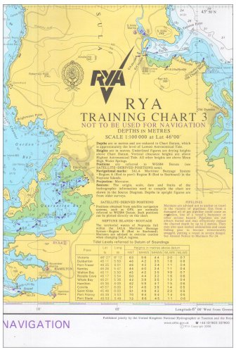 RYA Training Chart: No. 3 por Bill Boo