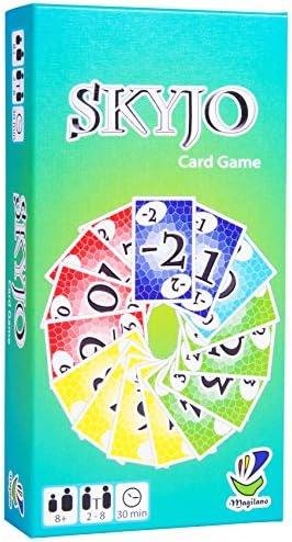 SKYJO, de Magilano - Le tout nouveau jeu de cartes pour les petits et les grands. Un jeu de société idéal pour se divertir et passer des soirées amusantes avec des amis et en famille.   Outlet Store En Ligne