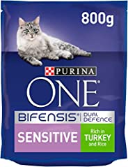 Purina One Sensitive Cat Turkey and Rice, 800 gm