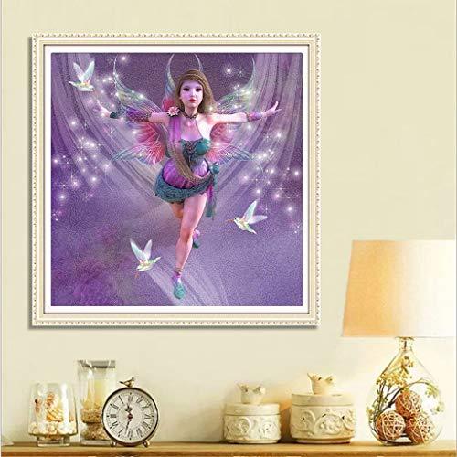 Jkhhi Diamant Stickerei Bauernhof Garten Mädchen 5d Diamond Gemälde Diamonds Painting Strass Eingefügt Malerei für Home Wall Decor Serie 5 -
