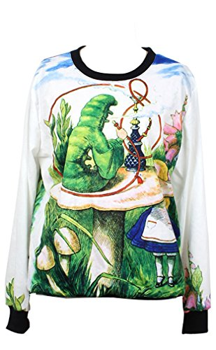 THENICE Women's Digital Print Pullovers Sweatershirts Test