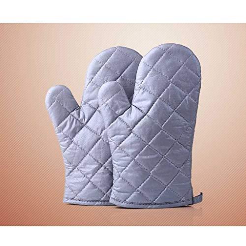 LYLLYL Gants Longs isolés Gants de Cuisson pour Micro-Ondes épais Polyester/Coton épais résistant à la Chaleur et résistant Silver 2 Gant