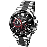 SEKONDA Unisex-Adult Chronograph Quartz Connected Wrist Watch with Stainless Steel Strap 3420.27