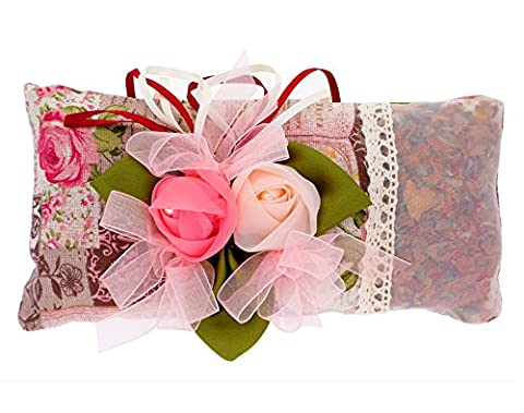 Sac en charbon de bambou 100% naturel- Desodorisant traditionnel et naturel-sac purificateur avec des roses - Subtil parfum de rose - Absorbe les odeurs et l'humidité - Désodorisant d'armoires - Non-toxique et hypoallergenique.