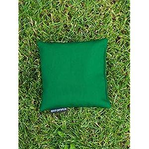 Cornhole Säckchen grün (Granulat oder Mais), 15 x 15 cm, 400g (oder 250g) – Top Qualität made in Germany, handgemachtes…