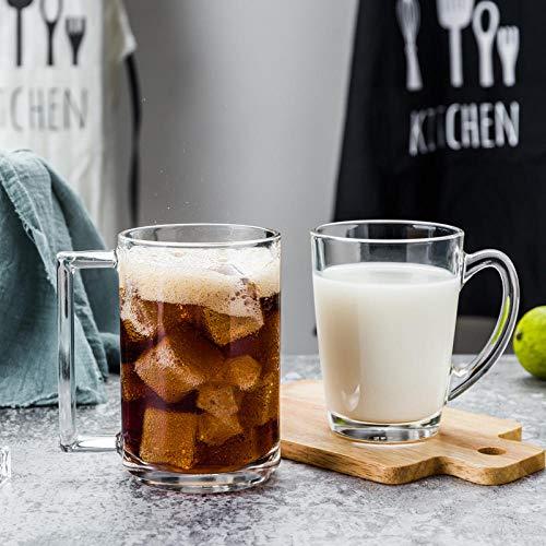 Glas Milch Kaffee Frühstück Tee Tasse Hitzebeständig Gehärtet Große Dicke Handbemalte Muster Home Restaurant Mikrowelle Gekühlt A -