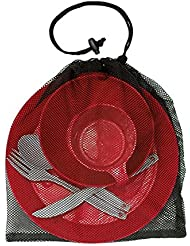 pichnick Cocina para camping y Exterior 6piezas, rojo