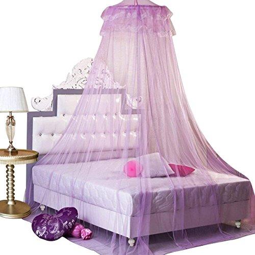 KKMore Neue Runde Spitze Vorhang Dome Betthimmel Netz Princess Moskitonetz (Lila) (Etagenbetten Babybetten)