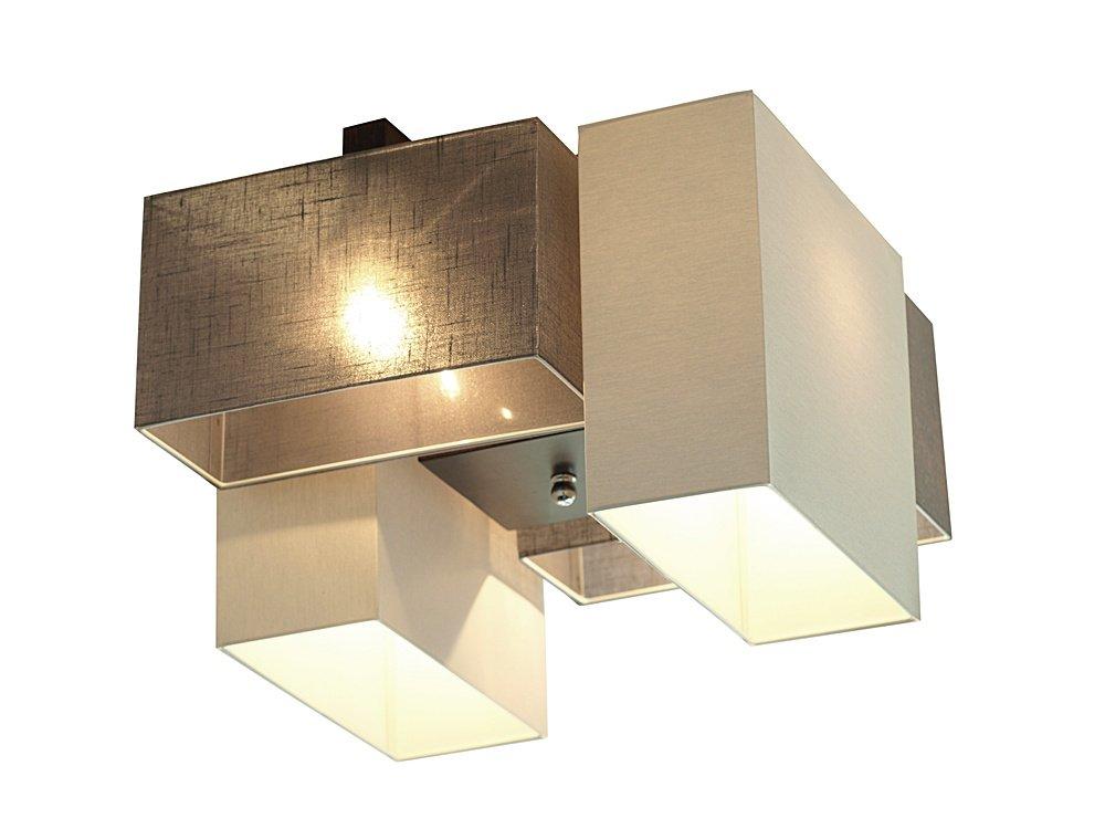 deckenlampe deckenleuchte leuchte vitoria 012 grau graphite holz chrom stoff ebay. Black Bedroom Furniture Sets. Home Design Ideas