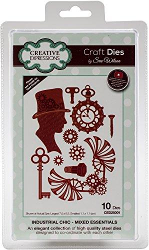 Sue Wilson Industrial Chic Collection gemischt Essentials Craft sterben, Metall, silber, 24x 13x 0,8cm