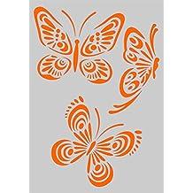 Stencil Plantilla para DIY proyectos/diseño de mariposas