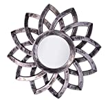 #9: Pindia Plastic Designer framed Wall Mounted Decorative Round Mirror